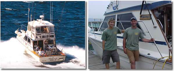 Deep sea fishing in New Hampshire and Maine